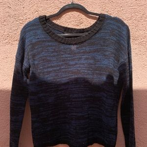 Black/blue knit sweaters